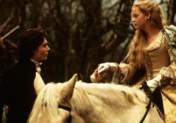 Johnny Depp and Christina Ricci in Sleepy Hollow.