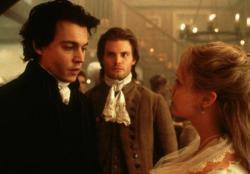 Johnny Depp, Casper Van Dien and Christina Ricci in Sleepy Hollow.