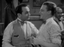 Edward G. Robinson and James Cagney in Smart Money.