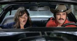 Sally Field and Burt Reynolds in Smokey and the Bandit.
