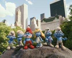 The Smurfs in Central Park.