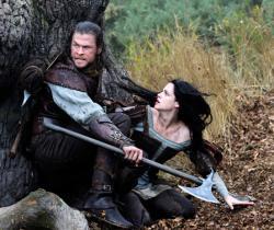 Chris Hemsworth and Kristen Stewart in Snow White and the Huntsman.
