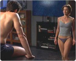 Hugh Jackman and Ashley Judd in their underwear in Someone Like You.