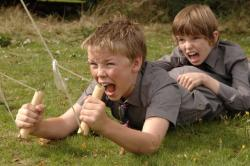 Will Poulter and Bill Milner in Son of Rambow