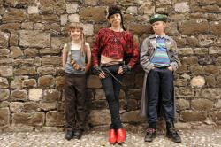 Bill Milner, Jules Sitruk and Will Poulter in Son of Rambow.