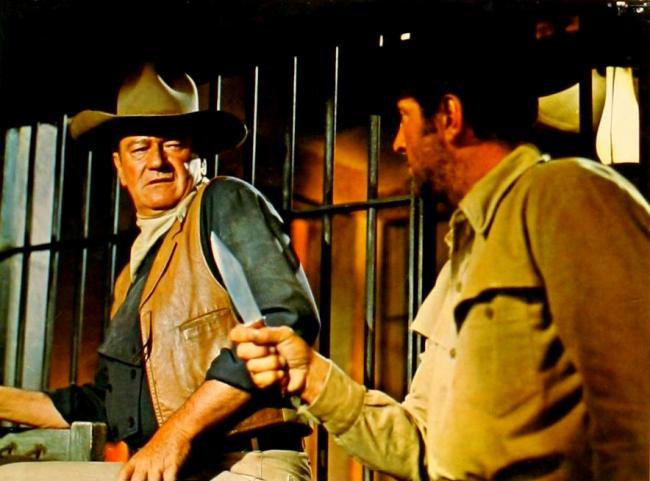 John Wayne and Dean Martin in The Sons of Katie Elder.