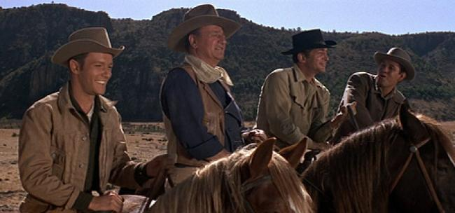 Believe it or not Michael Anderson Jr., John Wayne, Dean Martin and Earl Holliman are The Sons of Katie Elder.