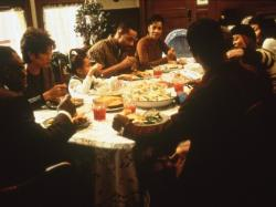 The cast of Soul Food gather together for a family dinner.