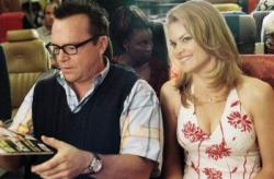 Tom Arnold and Missi Pyle in Soul Plane.