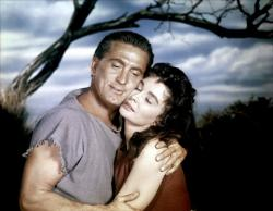 Kirk Douglas looks old enough to be Jean Simmons father in Spartacus