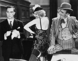 Buster Keaton, Thelma Todd and Jimmy Durante in Speak Easily