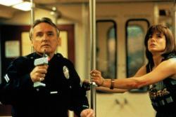 Dennis Hopper and Sandra Bullock in Speed.