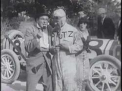 Ford Sterling, Earl Cooper and Mabel Normand in Speed Kings.