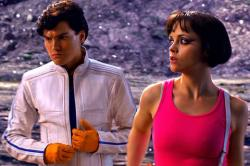 Emile Hirsch and Christina Ricci in Speed Racer.