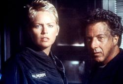 Sharon Stone and Dustin Hoffman in Sphere.