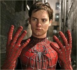 Tobey Maguire in Spider-man.
