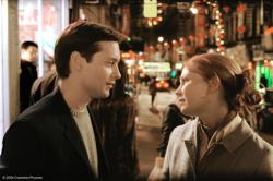 Tobey Maguire and Kirsten Dunst in Spider-man 2.