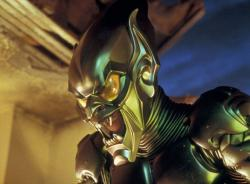 Willem Dafoe as the Green Goblin in Spider-man.