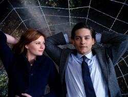 Kirsten Dunst and Tobey Maguire in Spider-man 3.