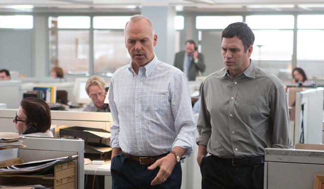 Michael Keaton and Mark Ruffalo in Spotlight.