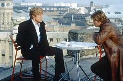 Robert Redford and Brad Pitt in Spy Game.