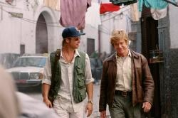 Brad Pitt and Robert Redford in Spy Game.