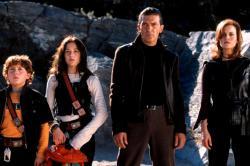 Daryl Sabara, Alexa Vega, Antonio Banderas and Carla Gugino in Spy Kids 2: Island of Lost Dreams.