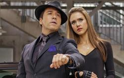 Jeremy Piven and Jessica Alba in Spy Kids: All the Time in the World.