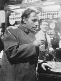 Richard Burton drinks and smokes in The Spy Who Came in from the Cold.