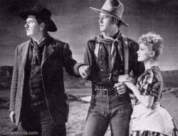 George Bancroft, John Wayne and Claire Travor in Stagecoach
