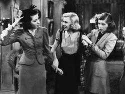 Ann Miller, Ginger Rogers and Lucille Ball in Stage Door.