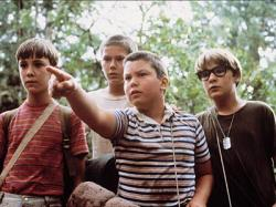Wil Wheaton, River Phoenix, Jerry O'Connell and Corey Feldman in Stand By Me.