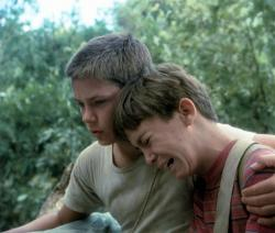 River Phoenix and Wil Wheaton in Stand By Me.