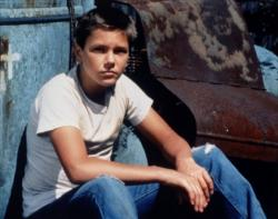 River Phoenix in Stand By Me.