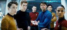 Chekov, Kirk, Scotty, Bones, Sulu and Uhura.