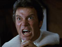 William Shatner in Star Trek II: The Wrath of Khan.