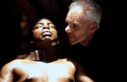 LeVar Burton and Malcolm McDowell in Star Trek VII: Generations.
