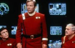 Walter Koenig, William Shatner and James Doohan in StarTrek VII: Generations