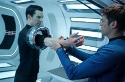 Benedict Cumberbatch and Karl Urban in Star Trek Into Darkness.