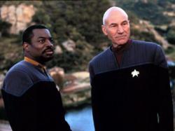 Levar Burton and Patrick Stewart in Star Trek: Insurrection