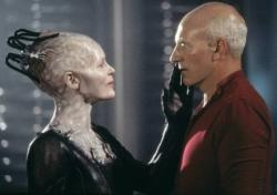 Alice Krige and Patrick Stewart in Star Trek VIII: First Contact.