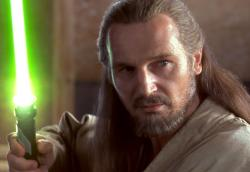 Liam Neeson in Star Wars: Episode I The Phantom Menace.