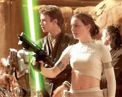 Hayden Christensen and Natalie Portman in Star Wars: Episode II Attack of the Clones.