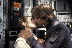 Carrie Fisher and Harrison Ford in Star Wars: Episode V The Empire Strikes Back.