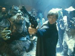 Mark Hamill in Star Wars: Episode VI Return of the Jedi.