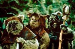 The Ewoks in Star Wars: Episode VI Return of the Jedi.