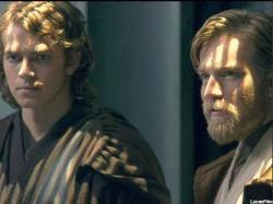 Hayden Christensen and Ewan McGregor in Star Wars: Episode III - Revenge of the Sith.