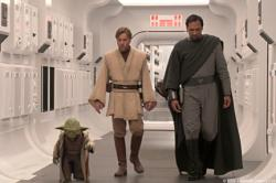Yoda, Ewan McGregor and Jimmy Smits in Star Wars: Episode III - Revenge of the Sith.