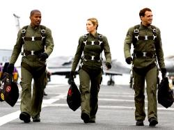 Jamie Foxx, Jessica Biel and Josh Lucas in Stealth.