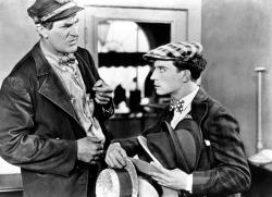 Ernest Torrence and Buster Keaton in Steamboat Bill Jr.